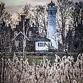 Port Sanilac Light by Ronald Grogan