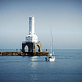 Port Washington Breakwater Lighthouse by Mary Machare