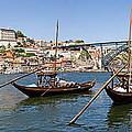 Port Wine Boats In Porto City by Jose Elias - Sofia Pereira