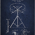 Portable Drum Patent Drawing From 1903 - Blue by Aged Pixel