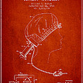 Portable Hair Dryer Patent From 1968 - Red by Aged Pixel