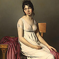 Portait Of A Young Woman In White by Mountain Dreams