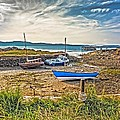 Portencross Harbour At Low Tide by Tylie Duff