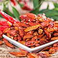 Portion Of Dried Chillies by Handmade Pictures
