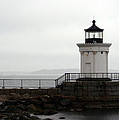 Portland Breakwater Light On A Hazy Day - Maine by Christiane Schulze Art And Photography