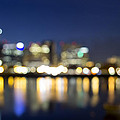 Portland Downtown Out Of Focus City Lights by Jit Lim