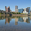 Portland Downtown Skyline And Hawthorne Bridge by Jit Lim