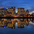 Portland Downtown Skyline At Blue Hour Panorama by David Gn