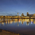 Portland Downtown With Hawthorne Bridge At Dusk by Jit Lim