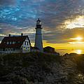 Portland Head Light At Dawn by Diane Diederich