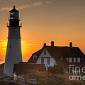 Portland Head Light At Sunrise IIi by Clarence Holmes