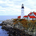Portland Head Light House In Maine by Catherine Sherman