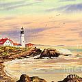 Portland Head Lighthouse Maine by Bill Holkham