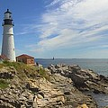 Portland Head Lighthouse Panoramic by Mike McGlothlen