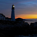 Portland Head Lighthouse Sunrise by Liz Mackney