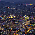 Portland Oregon Downtown Cityscape At Blue Hour by Jit Lim
