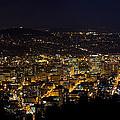 Portland Oregon Downtown Cityscape At Night by Jit Lim