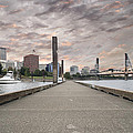 Portland Oregon Downtown Skyline By The Marina At Sunset by Jit Lim