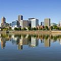 Portland Oregon Downtown Skyline Reflection 3 by David Gn