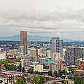 Portland Oregon Downtown View Panorama by Jit Lim