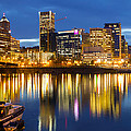 Portland Oregon Downtown Waterfront At Blue Hour by Jit Lim