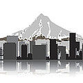 Portland Oregon Skyline 2 by Daniel Hagerman