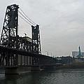 Portland Oregon Steel Bridge by Elizabeth Rose