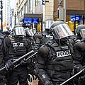 Portland Police In Riot Gear by Jit Lim