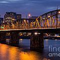 Portland Skyline And Hawthorne Bridge by Bryan Mullennix