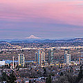 Portland South Waterfront At Sunset Panorama by Jit Lim