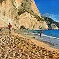 Porto Katsiki Beach In Lefkada Island by George Atsametakis