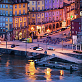 Porto Old Town In Portugal At Dusk by Artur Bogacki