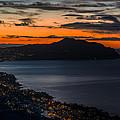 Portofino Mount And Paradise Gulf Sunrise - Alba Su Portofino E Golfo Paradiso by Enrico Pelos