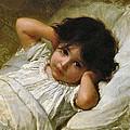Portrait De Marie-louise  by Emile Munier