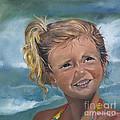 Portrait - Emma - Beach by Jan Dappen