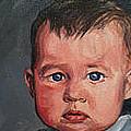 Commission Baby Portrait  by Christine Montague
