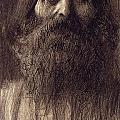 Portrait Of A Bearded Man by Gustav Klimt
