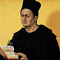 Portrait Of A Benedictine Abbot by Italian School