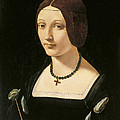 Portrait Of A Lady As Saint Lucy by Giovanni Antonio Boltraffio