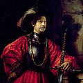 Portrait Of A Man In Military Costume by Rembrandt Harmensz. van Rijn
