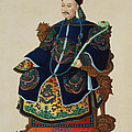 Portrait Of A Mandarin by Chinese School