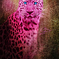 Portrait Of A Pink Leopard by Greg Collins
