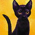 portrait of a small black cat named  LuLu by Jane Schnetlage