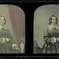Portrait Of A Woman, Antoine Francois Jean Claudet by Artokoloro