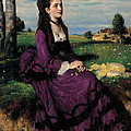 Portrait Of A Woman In Lilac by Pal Szinyei Merse