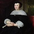 Portrait Of A Woman Oil On Canvas by Abraham Lamberts Jacobsz van den Tempel