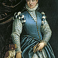 Portrait Of A Woman With A Dog by Paolo Veronese