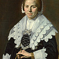 Portrait Of A Woman With A Fan by Frans Hals