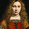 Portrait Of A Youth Crowned With Flowers by Giovanni Antonio Boltraffio
