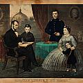 Portrait Of Abraham Lincoln And His Family by Celestial Images